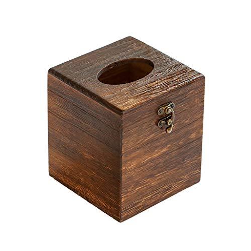 LYUN Caja de panuelos de Papel Cubierta Caja para Pañuelos Tejido De Madera Cuadrado Decorativo Cuadrado Soporte De Tejido Facial Dispensador Caja de panuelos Decoracion