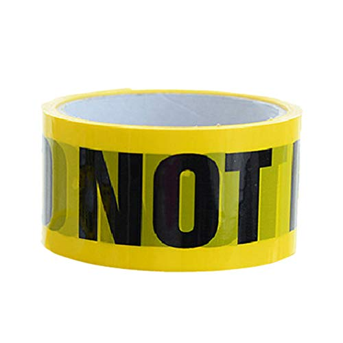 NUOBESTY Yellow Caution Tape Barricade Ribbon Self Adhesive Safety Warning Tape for Danger Hazardous Isolating Areas DO NOT Enter