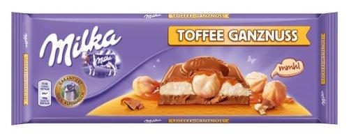 Milka Toffee Ganzenuss, Tafelschokolade, 300g, 2er Pack (2 x 300 g)