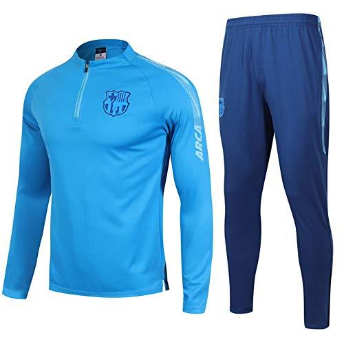 XunZhiYuan Spielen Wettbewerb Trainingsanzug Frankreich Heim und Auswärts Langarm Fußball Uniformen Jacken Sweatshirts Trainingsanzüge, L