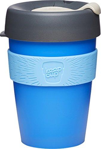 KeepCup CHER12 Tasse à café de Voyage réutilisable, Plastic, Bleu/Gris, 12