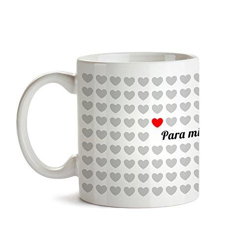 Taza – 1000 Corazones – para mí, Eres sin par – Tazas Personalizadas – Tazas para Parejas – Ideas para San Valentín – Taza con Mensaje como Regalo Original San Valentín