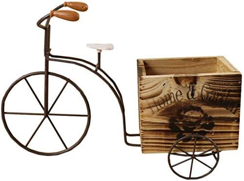 SGHR -Jardinera de Flores para Bicicleta,jardinerasrústicas para Patio, macetas para Plantas, jardín, decoración Interior y Exterior, Madera pequeña