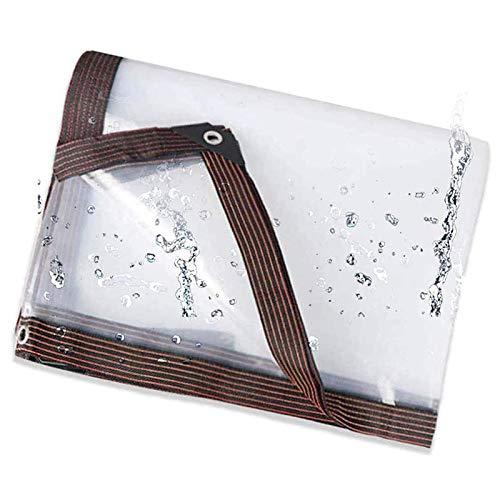 Lona Transparente Impermeable, Lona De Plástico Duradera Resistente Al Envejecimiento, Resistente Al Desgarro, Resistente Al Frío, Lonas Resistentes Con Ojales Para Acampar, Jardín, Piscin(Size:4×5M)