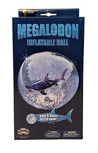 Universal Specialties Megalodon Inflatable Beach Ball Shark Swimming Pool Toy