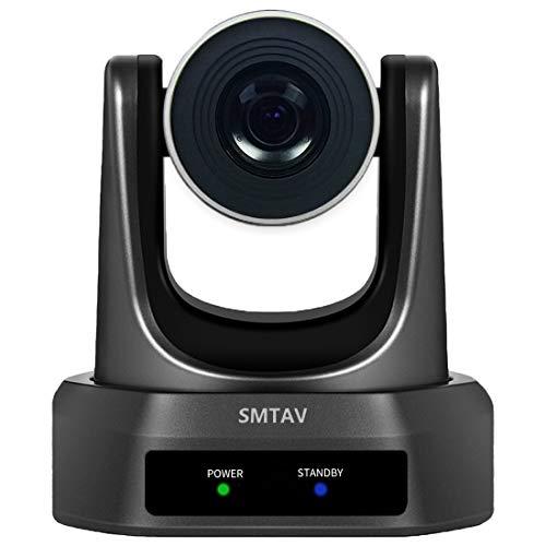 SMTAV PTZ Cámara de videoconferencia – Óptica 30X + Zoom Digital 8X Alta Velocidad, PTZ 3G-SDI+HDMI+Salida CVBS, compatible con H.265