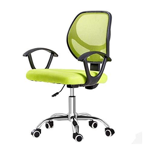 Sedie Executive Reclinabili in Rete Ergonomiche, Ufficio con Bracciolo Regolabile Supporto Lombare Reclinabile Sedia da Scrivania Girevole per Computer da Lavoro Sedia da Ufficio (Colore : Verde) TD