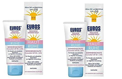 Eubos Med Sonnenschutz CremeGel LSF 30+ UVA für trockene Kinderhaut. Sparset 2x50 ml