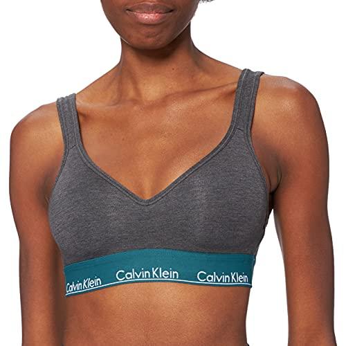 Calvin Klein Lift Bralette 000Qf5490E Sujetador, Carbón Heather_Topacio Piedra WB, M para Mujer