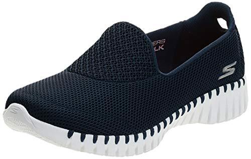 Skechers Women's GO Walk SMART-16700 Sneaker, Navy/White, 6.5 Wide US