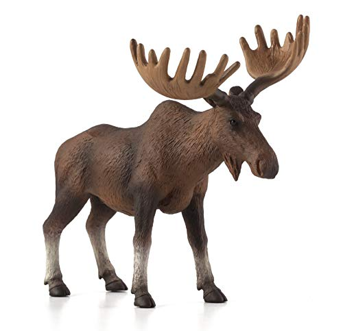 MOJO European Elk (Moose) Realistic International Wildlife Toy Replica Hand Painted Figurine