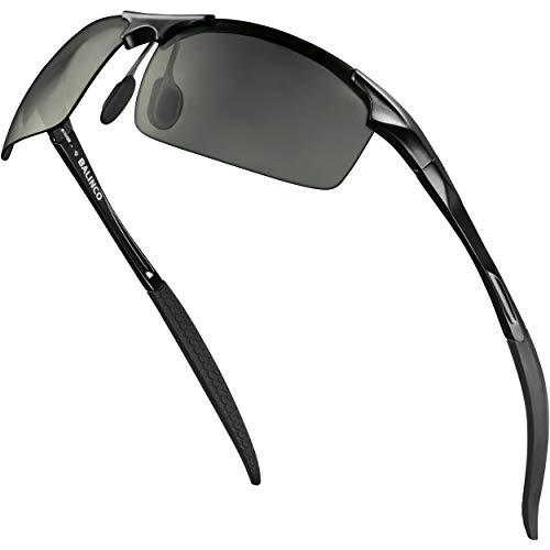 Balinco® Sport Sonnenbrille mit Aluminium-Rahmen, UV-Schutz & polarisierten TAC-Linsen - ideal für den Radsport geeignet - im praktischen Zubehör-Set inkl. Geschenkbox