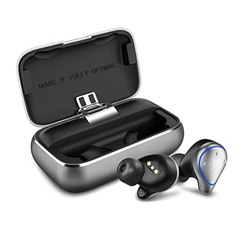 2021 Upgraded Mifo O5 Plus Gen 2 Wireless Earbuds IPX7 Waterproof Bluetooth 5 Earbuds 100 Hours Playtime, Hi-Fi Sound, Built-in Mic with 2600mAH Charging Case (Grey)