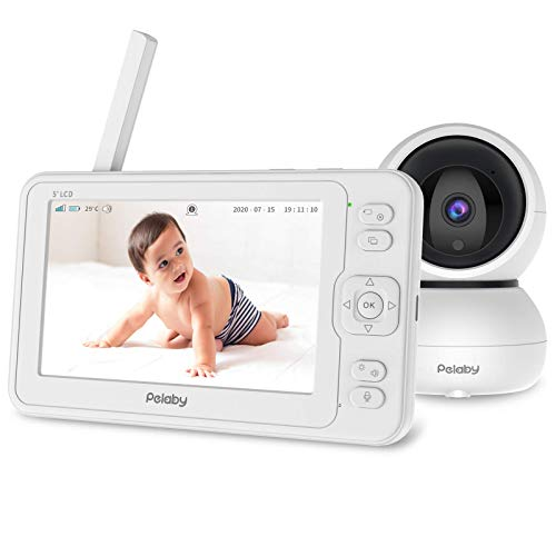 Video Baby Monitor, Pelaby 1080P 5' HD Display Baby Monitor with Camera and...
