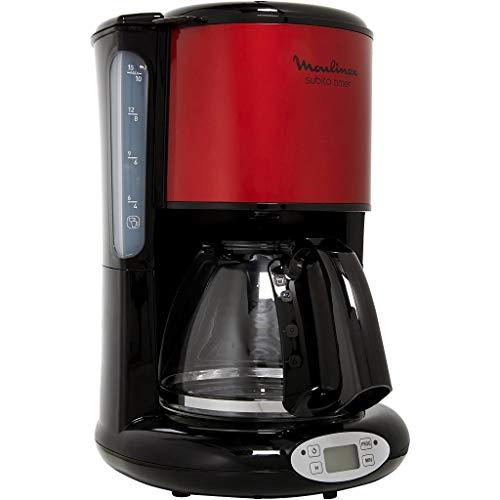Cafetière Programmable MOULINEX FG362D10 inox rouge