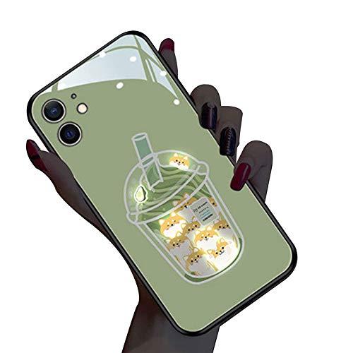 AIJOAIM Glowing Funda para iPhone 12 Pro Case Illuminate Carcasa Efecto De Luz De Color Suave TPU Bumper Case Cover,B,iPhone 7 Plus /8 Plus