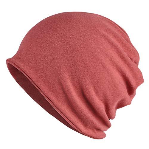 Goddness Bar Bonnet de Sommeil élégant Beanie Hat Scarf Casquette Polyvalente pour Le Plein air, Le Cyclisme, Les Cheveux crépus (A22)