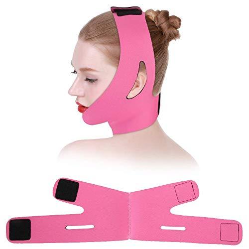 Face Slimmer Belt, Bandage Belt Mask Face-Lift Doppelkinn-Hautriemen (Pink)