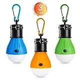 Winzwon Campinglampe, LED Camping Laterne, Tragbare Zeltlampe Laterne Glühbirne Set-Notlicht COB...