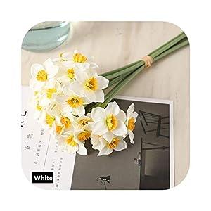 Silk Flower Arrangements FLOWERS Artificial Narcissus Bouquet Home Decoration Fake Desktop Wedding Scene Decor Daffodil