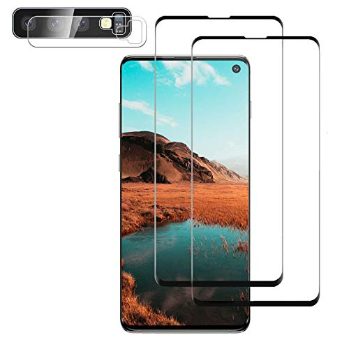 Glass Screen Protector for Samsung Galaxy S10 Plus, 9H Tempered Glass,Ultrasonic Fingerprint Compatible,3D Curved, HD Clear, Case Friendly Bubble-Free for Galaxy S10 Plus Screen Protector