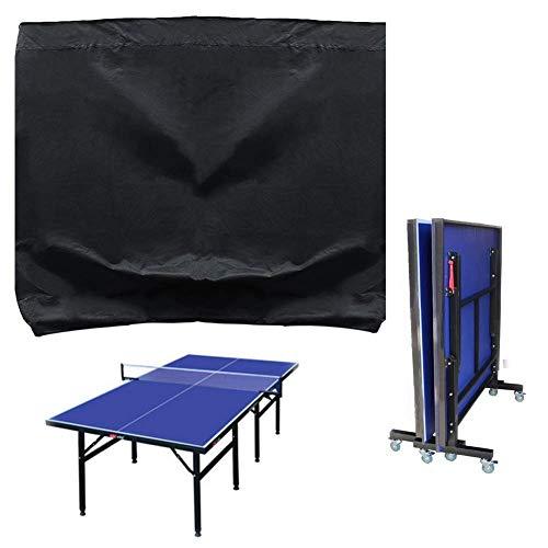 Fablcrew Housse de Protection Table de Ping Pong en Polyester Imperméable Couverture pour Table de Tennis de Table Noir 165 * 70 * 185CM