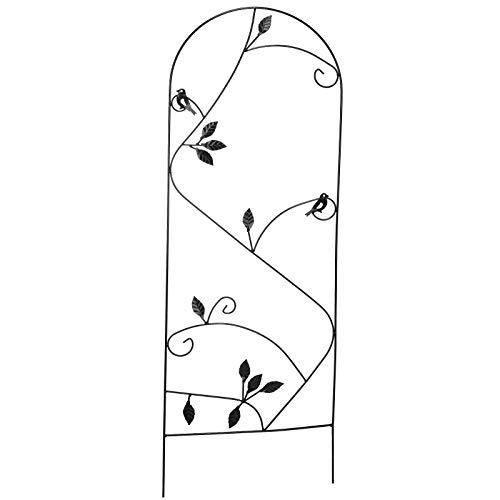 #11 Rankspalier aus Metall mit Verzierungen 120x40cm • Rankhilfe Rankgitter Rosen Spalier Garten Deko Blumengitter Kletterpflanzen Zaun