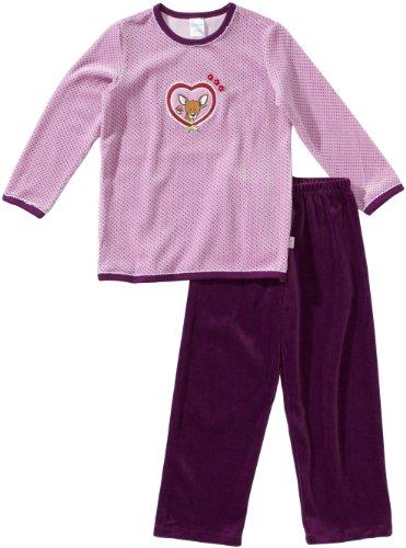 Schiesser Mädchen Md Schlafanzug Lang Pyjama, Blau (814-flieder), 116