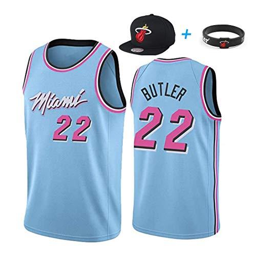 YUUY Jimmy Butler #22 Miami Heat Magliette da Basket,Maglie Ricamate a Mano,Optional Multicolore,Unisex (Color : A, Size : Men-2XL)