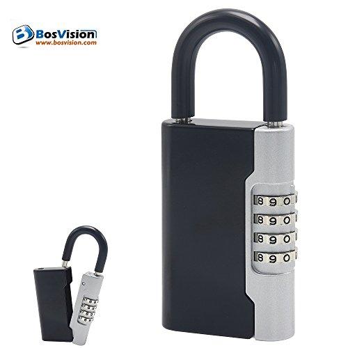 Bosvision BV-8960 Key-Guard Zahlenschloss für Schlüsselkasten/Schlüsselsafe, schwarz/Silber