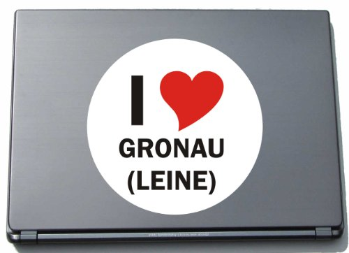 I Love Aufkleber Decal Sticker Laptopaufkleber Laptopskin 210 mm mit Stadtname GRONAU (LEINE)