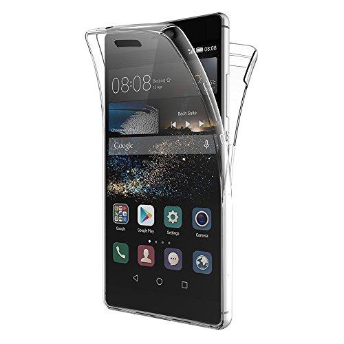 AICEK Huawei P8 Hülle, 360° Full Body Transparent Silikon Schutzhülle für Huawei P8 Hülle Crystal Clear Durchsichtige TPU Bumper P8 Handyhülle (5,2 Zoll)