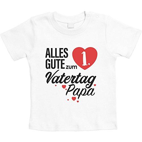 Vatertagsgeschenk Alles Gute zum 1. Vatertag Papa Unisex Baby Thirt 6-12 Monate Weiß
