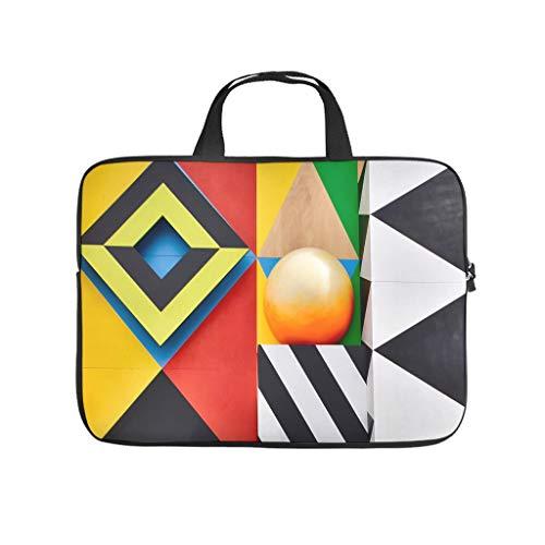 Mathematical geometry pattern laptop bag dustproof laptop carrying case fashion notebook bag for university work business