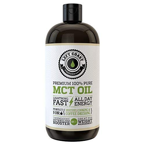 MCT Oil Keto derived only from Sustainable Coconuts. C8 and C10. Keto Diet | Paleo Friendly. Triple Filtered. Each Batch is Independently Tested (32oz)