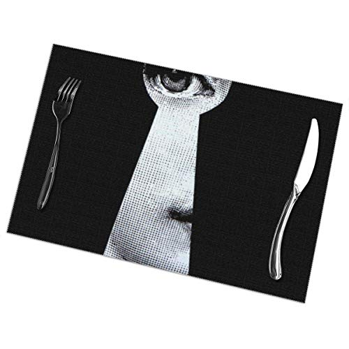 Placemats for Dining Table Set of 6,Piero Fornasetti