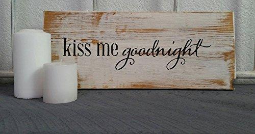 Norma Lily Kiss Me Goodnight Wieder Plaque Schild aus Holz Decor