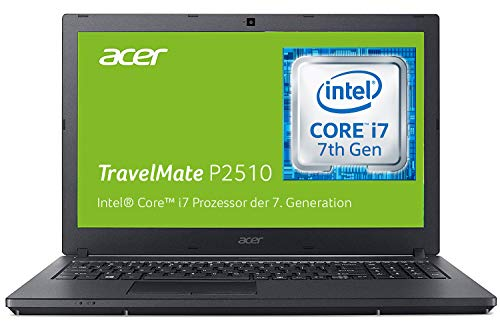 Acer TravelMate P2510 (TMP2510-M-73ZA) 39,6 cm (15,6 Zoll Full-HD IPS matt) Business-Laptop (Intel Core i7-7500U, 8 GB RAM, 256 GB SSD + 1000 GB HDD, Intel HD, Win 10 Pro) schwarz