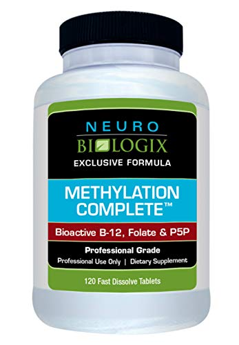 Neurobiologix Methylation Complete™ 120 Sublingual Tablets with Bioactive B12, Methyl Folate with a Light Fruit Punch Flavor for Focus, MTHFR & MTRR Gene Mutations, Vegan & Gluten Free