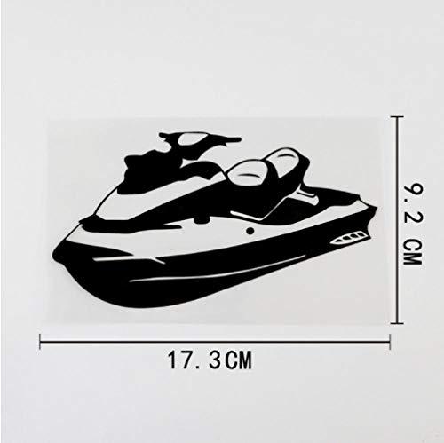 GenericBrands 5 Piezas Etiqueta engomada del coche17,3 cm x 9,2 cm Linda Moto acuática Scooter de Agua calcomanía Vinilo Etiqueta engomada del Coche Negro