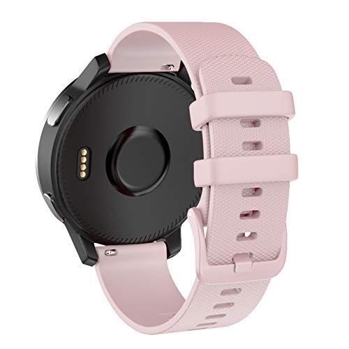 ISABAKE Correa de Reloj para Garmin vivomove 3s / Garmin Move 3S / vivoactive 4s / Garmin Active S,18mm Correa de Repuesto de Silicona Suave para Accesorios Garmin Watche