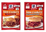 McCormick Slow Cookers BBQ Pulled Pork and Sweet & Smoky Pulled Chicken Crock Pot Seasoning Mix Packets - 2 packets - one of each. Barbecue Spices including chili peppers and thyme with hickory smoke