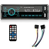 YUANTING Touch Keys Bluetooth MP3 Player Single Din Car Stereo HD Radio USB/TF FM AUX in , Car Audio Receiver Remote Control
