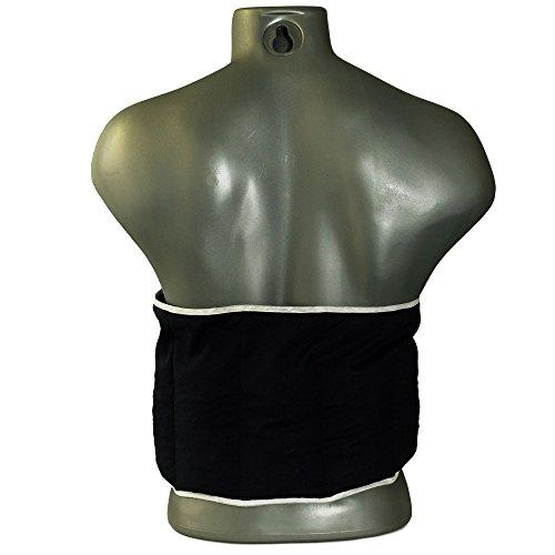 Coussin-ceinture aux graines de lin à sept compartiments avec fermeture à bande auto-agrippante - longueur environ 135cm - Bleu foncé - Coussin thermique aux graines XXL - Bouillotte lombaire