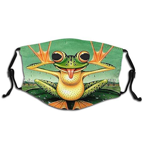 Funny Cute Funny Frog Animal Mask Fashion Design Washable, Adjustable And Reusable Big Kids Mask Princess And Frog Balaclava With 2pcs Filter