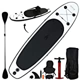10' Inflatable Stand Up Paddle Board/Kayak and SUP! (6 Inches Thick, 32 Inch Wide Stance Width)...