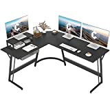 CubiCubi Modern L-Shaped Desk Computer Corner Desk, 59.1' Home Office Writing Study Workstation with Small Table, Space Saving, Easy to Assemble