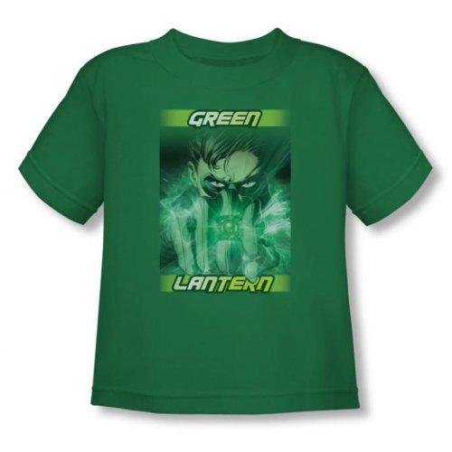 Green Lantern - - Toddler In Your Face (Vidéo) T-shirt En Vert Kelly, 2T, Kelly Green