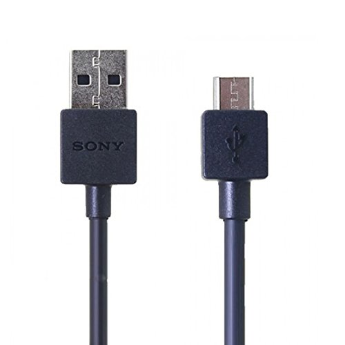 Emartbuy® Schwarz Genuine Sony Micro USB Sync Data Charge Kabel - Packung 10 Bulk Pack Suitable for Sony Xperia Z5 Compact, Xperia Z5, Xperia Z5 Premium, Xperia M4 Aqua, Xperia M5, Xperia C5 Ultra, Xperia E4, Xperia E4g, Xperia M2, Xperia Z3, Xperia Z3 Compact