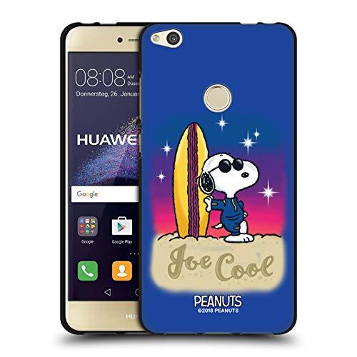 Head Case Designs Licenciado Oficialmente Peanuts Joe Cool Surf Aerógrafo Snoopy Boardwalk Funda de Gel Negro Compatible con Huawei P8 Lite (2017)